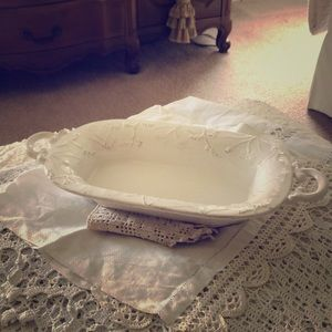 Rustic Porcelain Serve Bowl